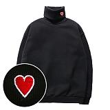 슈퍼레이티브 - HEART 기모 목폴라 맨투맨 - 7C 510 - 자수목폴라 - 6컬러