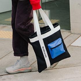[로아드로아] 3D POCKET SHOULDER BAG (BLACK) 가방 에코백
