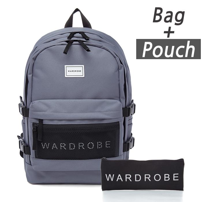 [와드로브]WARDROBE -TRIPLE BACKPACK_GRAY 트리플 백팩 가방