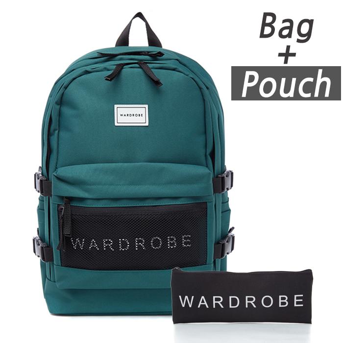 [와드로브]TRIPLE BACKPACK_GREEN 백팩 가방