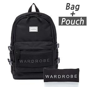 [와드로브]WARDROBE -TRIPLE BACKPACK_BLACK 트리플 백팩 가방