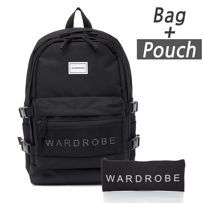 [와드로브]TRIPLE BACKPACK_BLACK 백팩 가방