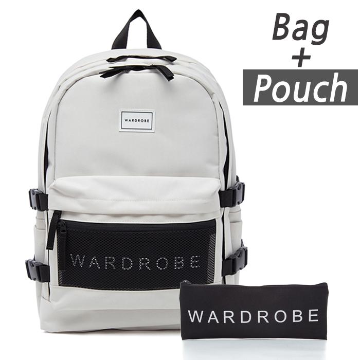[와드로브]WARDROBE -TRIPLE BACKPACK_IVORY 트리플 백팩 가방