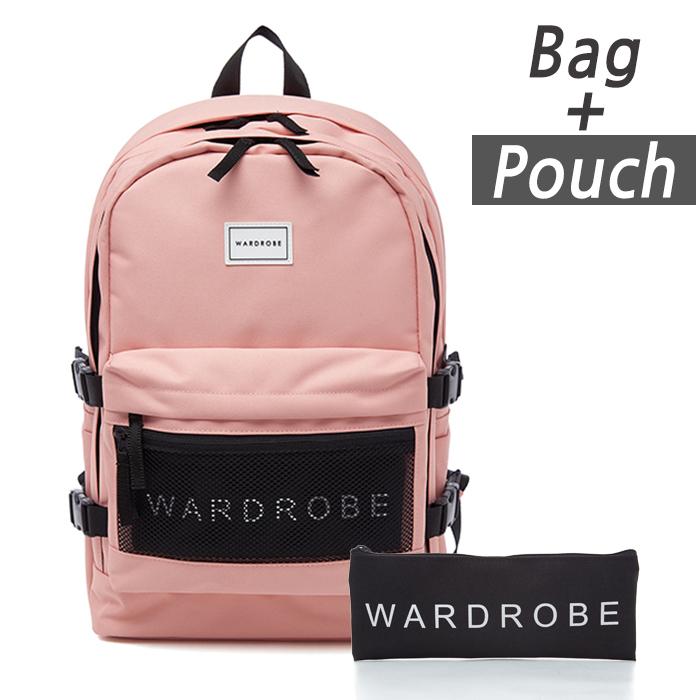 [와드로브]WARDROBE -TRIPLE BACKPACK_PINK 트리플 백팩 가방