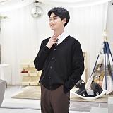 교복몰 - 보풀방지 블랙 교복 가디건 (남자)
