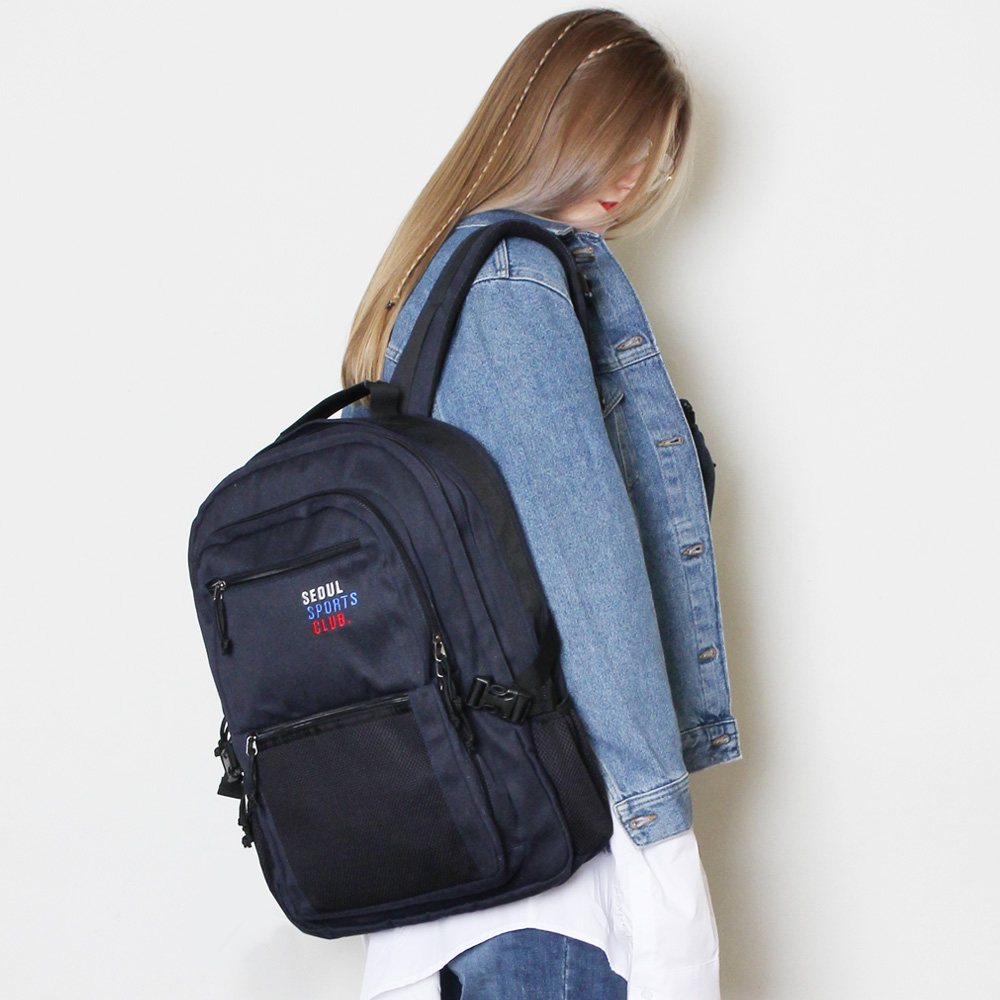 [피스메이커]SSC SQUARE BACKPACK (NAVY) 백팩
