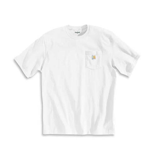 칼하트 - Workwear Pocket T-Shirt K87 (White) 포켓티 반팔티 티셔츠