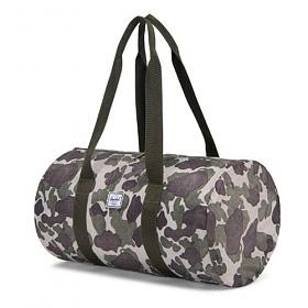 [허쉘]HERSCHEL - PACKABLE DUFFLE (FROG CAMO) 패커블 더플백 보스턴백 여행가방 보조가방