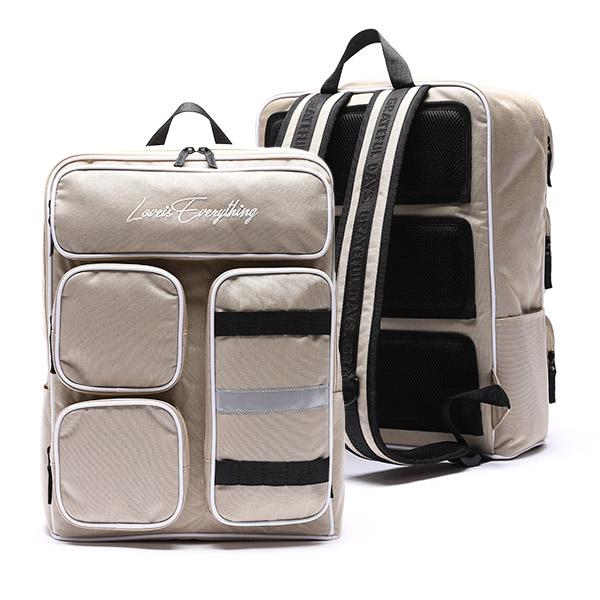 [유니온오브제] MINIMAL 4POCKET BACKPACK - BEIGE 백팩 가방