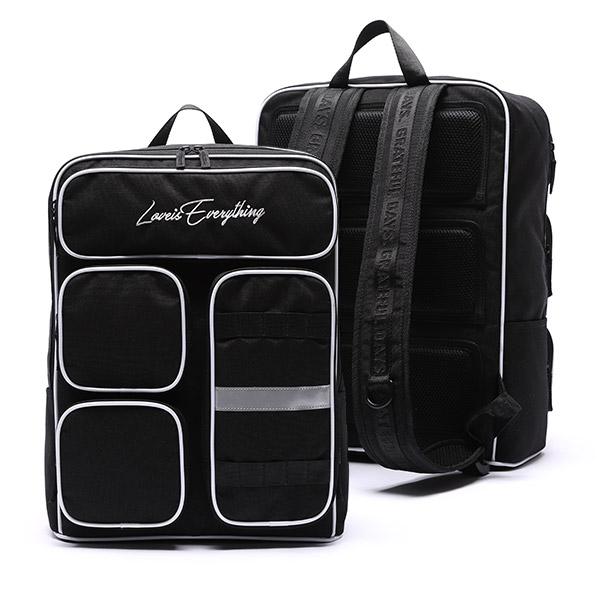 [유니온오브제] MINIMAL 4POCKET BACKPACK - BLACK 백팩 가방