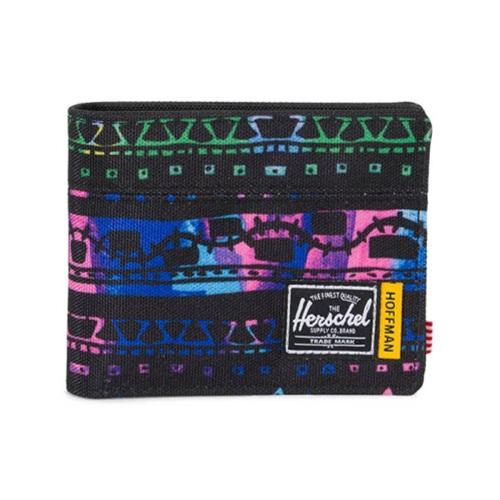 [허쉘]HERSCHEL - [HOFFMAN] ROY RFID (ZIGZIG BLUE/GREEN) 호프먼 콜라보 반지갑 지갑