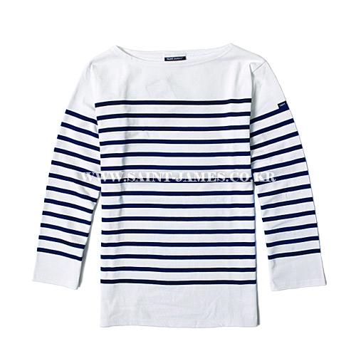 [세인트제임스]SAINT JAMES - 본사 남여공용 Naval II (Neige/Marine) 나발2 스트라이프 롱슬리브 긴팔 티셔츠