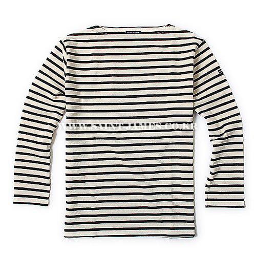 [세인트제임스]SAINT JAMES - 본사 남여공용 Guildo R (Ecru/Noir) 웨쌍 길도 스트라이프 롱슬리브 긴팔 티셔츠
