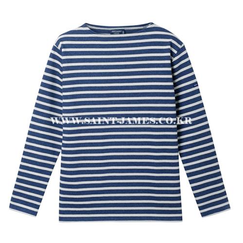 [세인트제임스]SAINT JAMES - 코리아 단독컬러 / 본사 남여공용 Guildo R (Indigo/Ecru) 웨쌍 길도 스트라이프 롱슬리브 긴팔 티셔츠