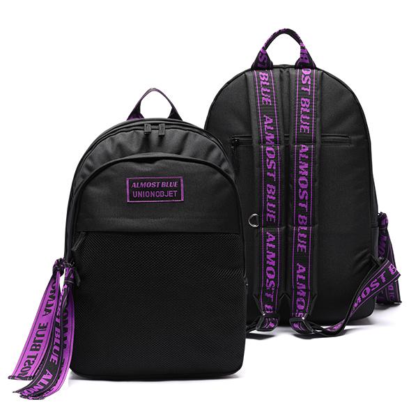 [연예인착용][유니온오브제 X 얼모스트블루]ULTRA VIOLET BACKPACK - BLACK 올모스트 블루 백팩 가방