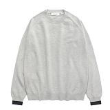 라퍼지스토어 - (Unisex)Line Cashmere Round knit_Cloud 캐시미어 니트