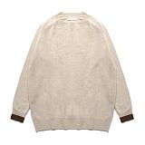 라퍼지스토어 - (Unisex)Line Cashmere Round knit_Percell 캐시미어니트