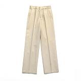 라퍼지스토어 - [1/23일 예약발송](Unisex) Cotton Wide Pants_Beige 와이드팬츠
