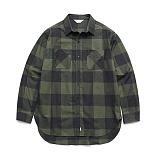 라퍼지스토어 - (Unisex) Gingham Check Shirt Green 체크셔츠