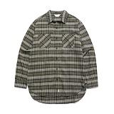 라퍼지스토어 - (Unisex) Tartan Check Shirt Khaki Brown 타탄체크셔츠