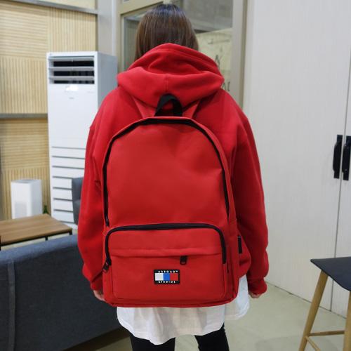 [에이비로드] 시그니처 베이직 USB 백팩 (red) 백팩