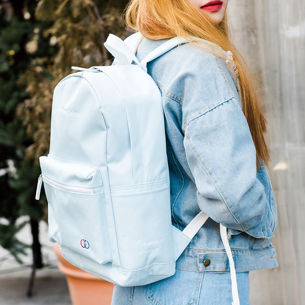 [로아드로아] YUM YUM BACKPACK (SKYBLUE) 백팩가방 데이백 무지백팩 얌얌백팩 학생가방 신학기