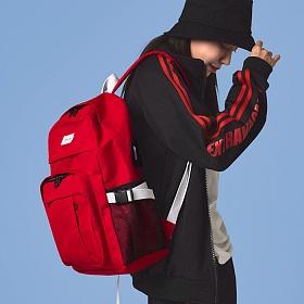 [단독판매][지플랫] USB포트 키젤 백팩 (RED) 가방