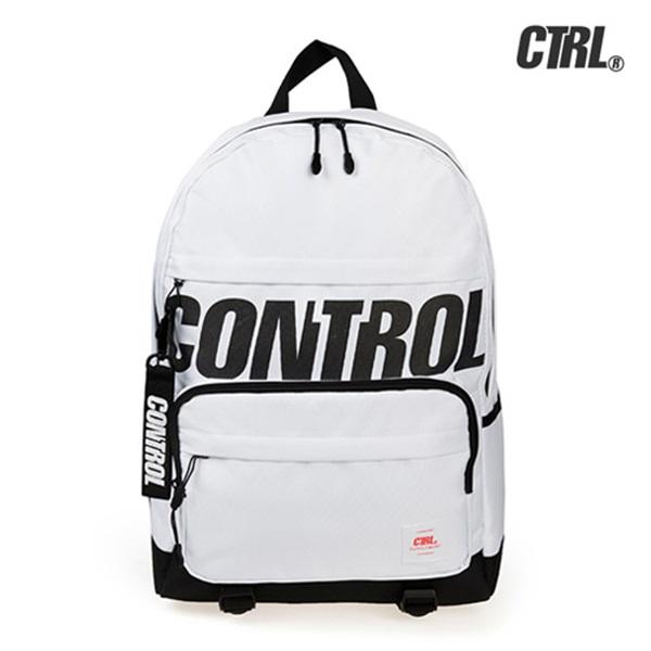 [씨티알엘]CTRL - RETRO BLOCK DAYPACK (WHITE) 레트로 블럭 백팩 가방