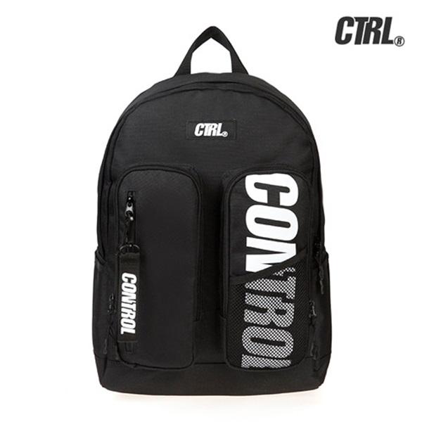 #클리어런스 [씨티알엘]CTRL - DOUBLE POCKET BACKPACK (BLACK) 더블 포켓 백팩 가방