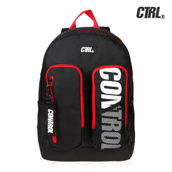 [씨티알엘]CTRL - DOUBLE POCKET BACKPACK (BLACK/RED) 백팩 가방 사은품 증정