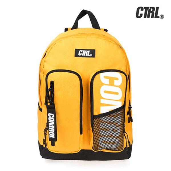 [씨티알엘]CTRL - DOUBLE POCKET BACKPACK (MUSTARD) 더블 포켓 백팩 가방
