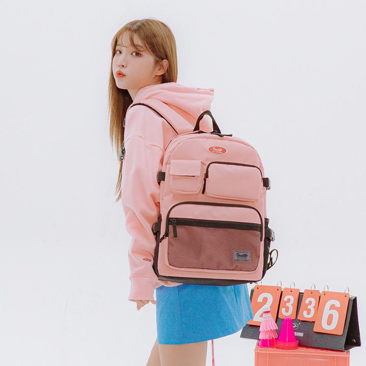 [연예인 착용][데이라이프]DAYLIFE  멀티 포켓 백팩 (핑크) 학생백팩
