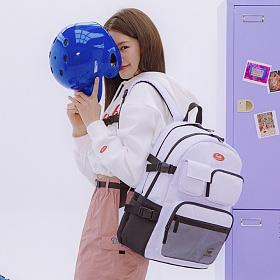 [연예인 착용][DAYLIFE]데이라이프 멀티 포켓 백팩 (화이트) 2020년 업그레이드 ver 학생가방