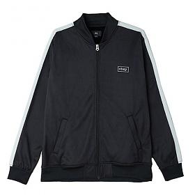 [오베이]OBEY - BORSTAL TRACK JACKET (BLACK) 사이드라인 집업 트랙탑 져지 자켓