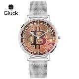 글륵 행운의 비트코인 시계 GL4010B-SVMS