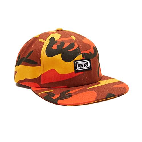 [오베이]OBEY - RESIST 6 PANEL HAT (FIELD ORANGE CAMO) 밀리터리 카모 스냅백 모자
