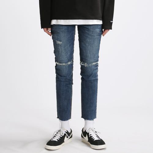 [쟈니웨스트] JHONNYWEST - Scar Washing Jeans 워싱진 데님팬츠