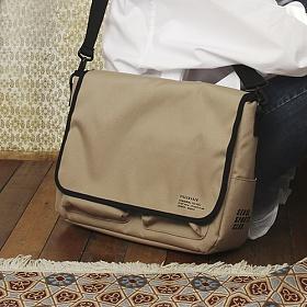 [피스메이커] PIECE MAKER - SSC MAIL MESSENGER BAG (BEIGE) 메일백 메신저백 가방