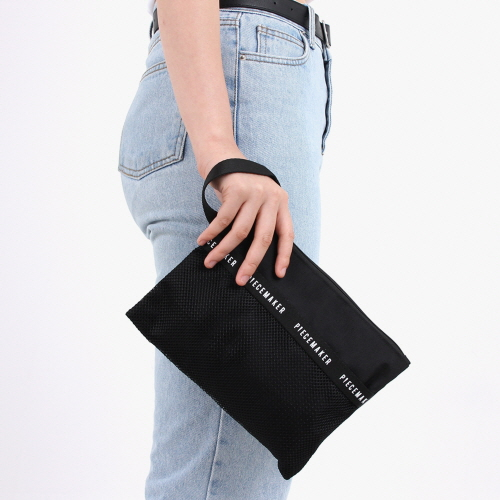 [피스메이커]PIECE MAKER - REPLAY POUCH L (BLACK) 파우치