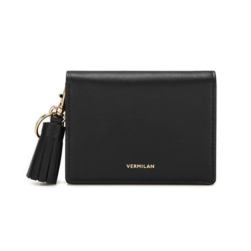 [버밀란] - VERMILAN 플랩 지갑 - 블랙
