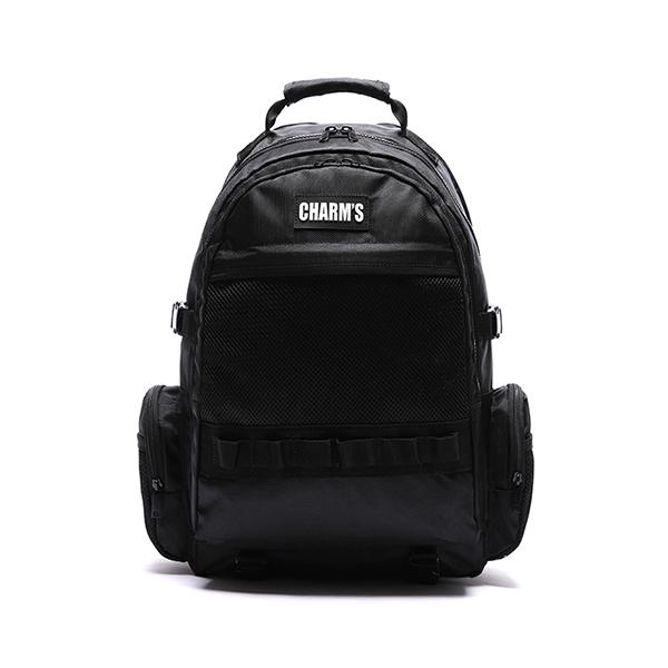 [참스] CHARMS L3 logo 3 pocket bag BLACK 로고 포켓 메쉬백팩 망사백팩 학생가방