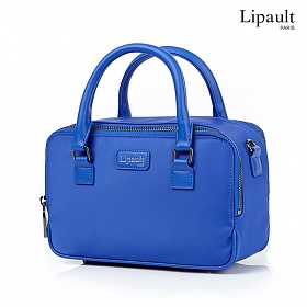 리뽀 LIPAULT 토트백 PLUME BASIC MINI SQUARE TOTE BAG- BIMAT EXOTIC BLUE AZ051014