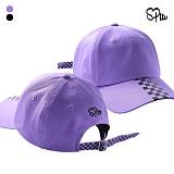 슈퍼레이티브 - PURPLE LINE CHECK BALL CAP - 체크볼캡 - 2컬러