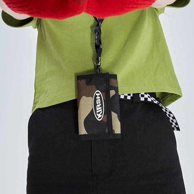 [키르시포켓] KIRSH POCKET 벨크로 월렛 HS [카모플라쥬] 목걸이 지갑