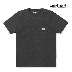 칼하트WIP S/S Pocket T-Shirt (Black Heather)