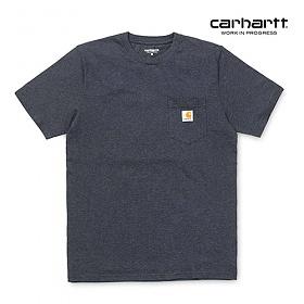 [칼하트WIP] CARHARTT WIP - S/S Pocket T-Shirt (Dark Navy Heather) 포켓 반팔티 포켓티