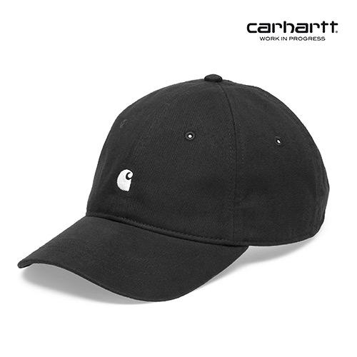 [칼하트WIP] CARHARTT WIP - Madison Logo Cap (Black / White) 자수로고 볼캡 야구모자 모자
