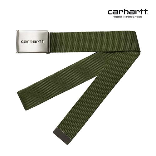 [칼하트WIP] CARHARTT WIP - Clip Belt Chrome (Cypress) 클립 벨트 크롬