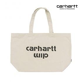 [칼하트WIP] CARHARTT WIP - Bronc Tote Large (Ecru / Black) 코튼 캔버스 에코백 토트백 숄더백