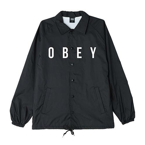 [오베이]OBEY - ANYWAY JACKET LIGHT SHORT (BLACK) 코치자켓 자켓